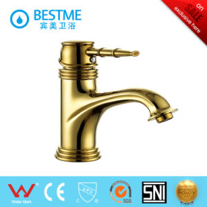 Bathroom Sanitary Ware Brass Faucets Basin Mixer (BM-10415G) pictures & photos
