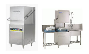 Commercial Single-Cylinder Dual-Spray Tunnel-Type Dishwasher (HIGHT-C100) pictures & photos