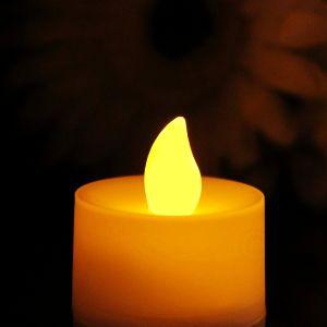 Events Decotative Crafts Yellow Color LED Fairy Candle Tea Light