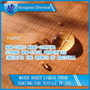 Water Based Liquid Proof Coating for Textile (PF-201) pictures & photos