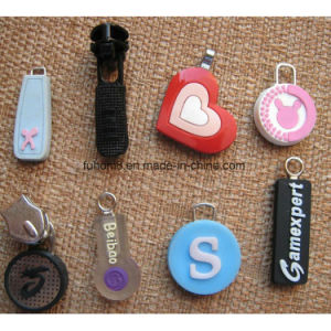 Customized Silicone/Metal/Plastic Garment Zipper Pull pictures & photos