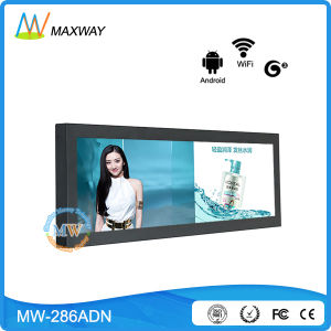28 Inch Ultra Wide Digital Signage, Wall Mount Advertising Bar LCD Display (MW-286ADN) pictures & photos