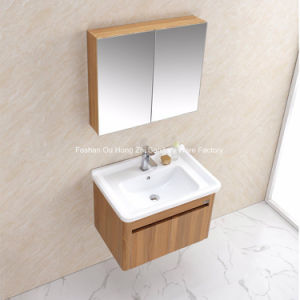 Sanitary Ware Wooden Grain Stainless Steel Bathroom Vanity Bath Vanity pictures & photos