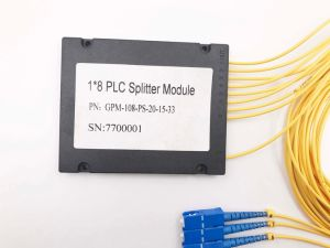 Gpon Telecommunication 1X8 Plastic Box PLC Splitter Without Connnector pictures & photos