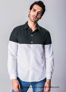 Fashion Mix Color Mens 100% Cotton Long Sleeve Shirt pictures & photos