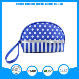 New Design Dots and Stripe Printed Microfiber Cosmetic Bag with Handle pictures & photos