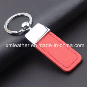 Leather Custom Key Chain Red Color Keychain Key Ring pictures & photos