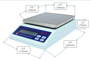 6kg 0.1g Weighing Scales with Rechargeable Battery pictures & photos