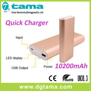 QC2.0 Quick Charging 10200mAh Portable Mobile Power Bank for Smartphone pictures & photos