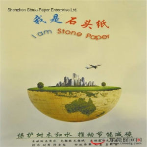 Stone Paper (RPD-140) Rich Mineral Paper Double Coated-140um pictures & photos