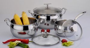 Stainless Steel Kitchenware Apple Shape Cookware Set pictures & photos