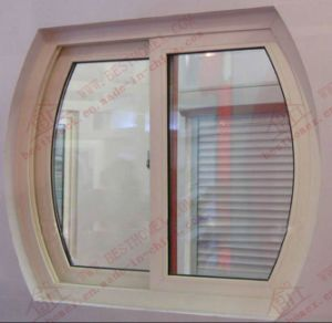 UPVC Sliding Window with Arch on Top (BHP-SWA04) pictures & photos