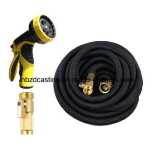 China Expandable Garden Hose+9 Function Spray Nozzle pictures & photos