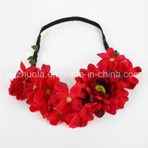 Silk Flowers Headband for Party Decoration pictures & photos