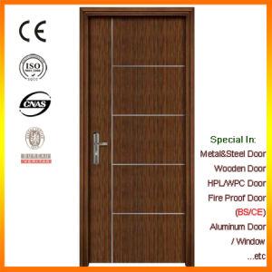 Black Walnut Entry Door Interior Wooden Fire Rate Door with BS Certificate pictures & photos