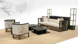 Modern Hotel Restaurant Living Room Furniture Wooden Sofa pictures & photos