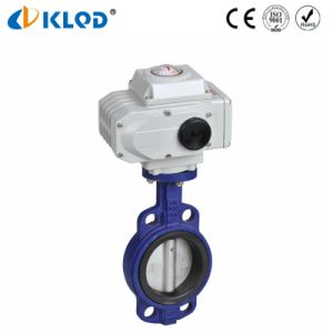 Standard Wafer Style 24V 110V 220V Electric Actuator Butterfly Valve pictures & photos