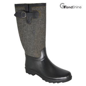 Wellie Rubber Rainboot with Adjustable Strap