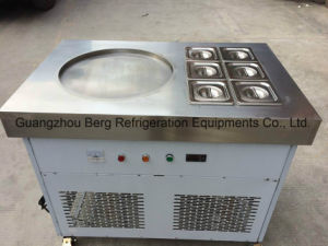 Round Pan Thailand Fried Ice Machine with Wheels pictures & photos