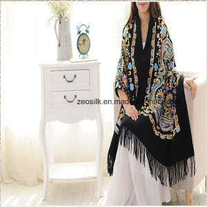 Fashion Embossing Long Cashmere Scarf for Momen Pashmina Scarf pictures & photos