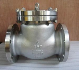 Stainless Steel Wcb Cast Steel Body Flange End Swing Check Valve