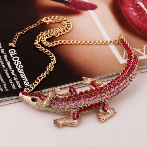 Fashion Diamond Crocodile Choker Necklace Jewelry pictures & photos