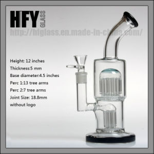 Hfy Glass New Arrivals 11 Inches 20 Arms Toro Glass Water Pipes Pyrex for Smoking with 2 Percs Bubbler Heady Hookah in Stock pictures & photos