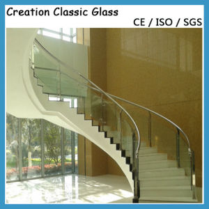 Hot Curved Tempered Glass for Stair Railings/Building Glass pictures & photos