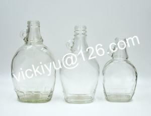 180ml, 250ml, 350ml Classic Flat Glass Oil Bottles, Vinegar Bottles with Ear