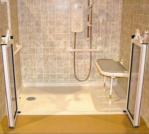 Ada Compliant Ada Handicap Roll in Handicap Accessible Shower Pan pictures & photos