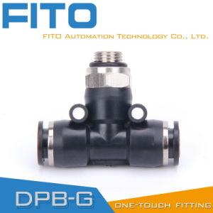 100% Tested Pb Pneumatic Male Fitting/Tee Union Fitting/Plastic Pneumatic Fittings pictures & photos