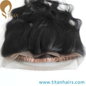 Natural Front Wavy Indian Virgin Hair 360 Lace Closure pictures & photos