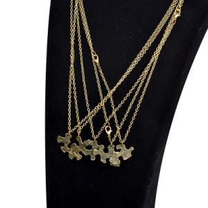 Vintage Metal Five Disc Puzzle Bff Puzzle Pendant Necklace Best Friends Forever Friendship Jewelry pictures & photos