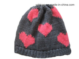 Winter Hat Acrylic Jacquard Hat Beanie Hat Custom Knit Hat POM POM Knitted Hat pictures & photos