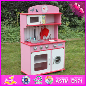 2017 Wholesale Wooden Girls Play Kitchen, New Design Wooden Girls Play Kitchen, Best Wooden Girls Play Kitchen W10c232 pictures & photos