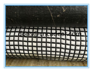 Bitumen Coated Fiberglass Geogrids Composite with Geotextile pictures & photos