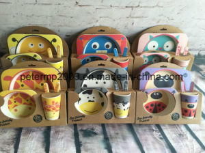 Wholesale New New Type Bamboo Fiber Children Food Tray pictures & photos
