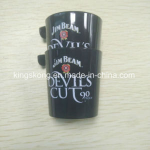 Promotional 2oz OEM Tasting Plastic Solo Cup Shot Glass with Snap Hook for Spirit pictures & photos