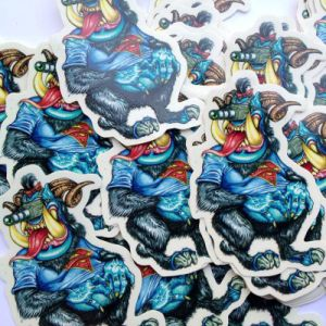 Removable Individual Waterproof Decorative Logo Label Die Cut Printing Sticker pictures & photos