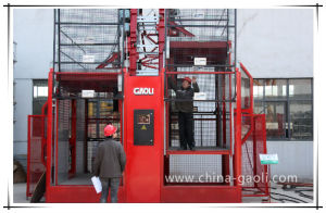 Gaoli Stability Elevator for Tower Crane From China Sc320/320 Building Lifter pictures & photos