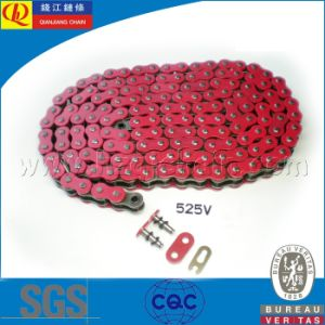 Red O-Ring Motorcycle Chain 525V pictures & photos