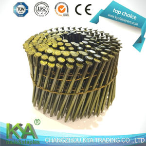 Zinc Yellow Smooth Coil Nails for Packing and Construction pictures & photos