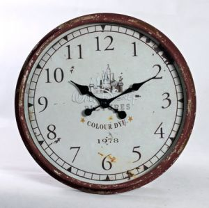 Anatique Decorate Roman Numeral Large Round Metal Wall Clock pictures & photos