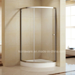 Aluminum Profiles Shower Cubicle with ABS Round Handle (K-336) pictures & photos