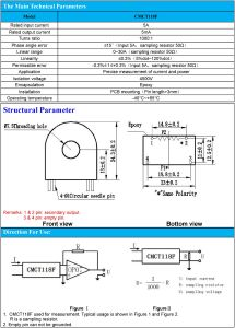 Current Transformer Turns Ratio 1000: 1 PCB Mounting CT pictures & photos