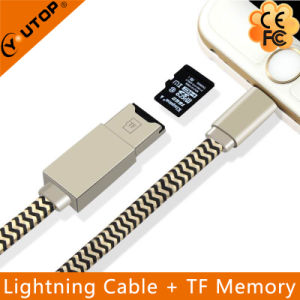 Microsd Card Reader + Lightning Data Charging Cable for iPhone (YT-RC001) pictures & photos