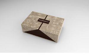 Debossing on The PU Leather Box Perfume Oud Packaging