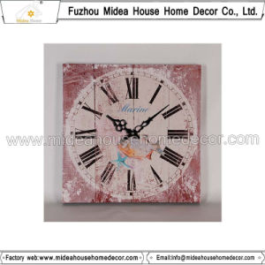 Distressed Square Wood Wall Clock Design pictures & photos