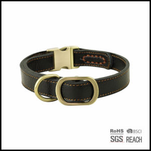 Pet Dog Supply Products Luxury Leather Dog Collars pictures & photos