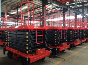 6-16 Meters Electric Scissor Lift with Ce Certificate pictures & photos
